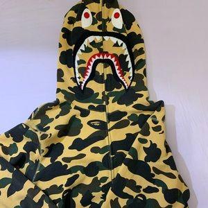 BAPE 1st camo PONR full zip hoodie
